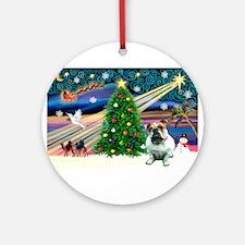 Xmas Magic & Bulldog Ornament (Round)
