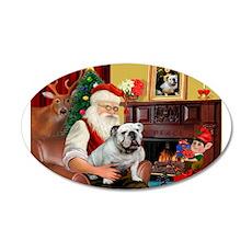 Santa's white EBD 22x14 Oval Wall Peel