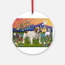 English Bulldog Fantasyland Ornament (Round)
