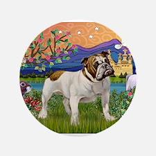 "English Bulldog Fantasyland 3.5"" Button"