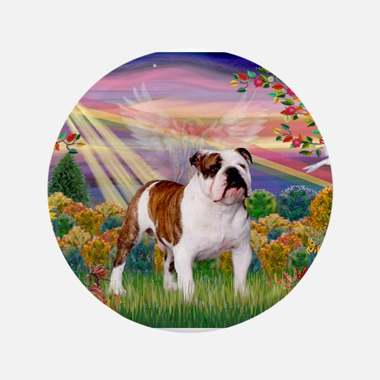 """Autumn Angel /Bulldog 3.5"""" Button"""