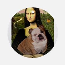 Mona's English Bulldog Ornament (Round)