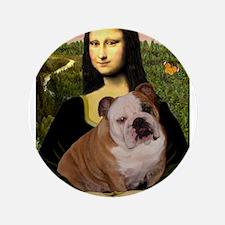 "Mona's English Bulldog 3.5"" Button"