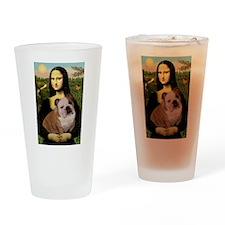 Mona's English Bulldog Drinking Glass
