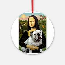 Mona & English Bulldog Ornament (Round)