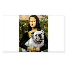 Mona & English Bulldog Decal