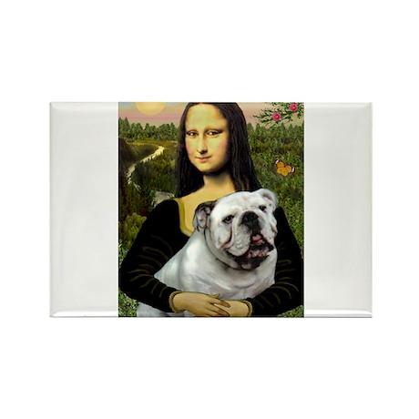 Mona & English Bulldog Rectangle Magnet (10 pack)
