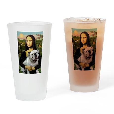Mona & English Bulldog Drinking Glass