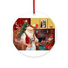 Santa's English Setter Ornament (Round)