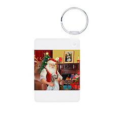 Santa's English Setter Keychains
