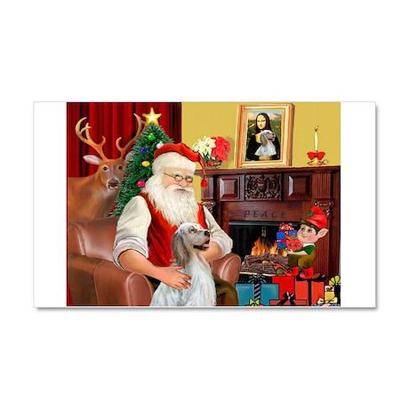 Santa's English Setter Car Magnet 20 x 12