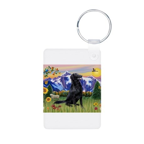 FCR in Mountain Country Aluminum Photo Keychain