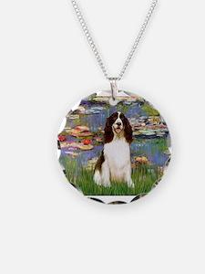 Monet's Lilies & Springer Necklace
