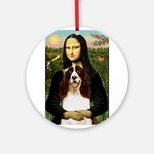 Mona Lisa & Her Springer Ornament (Round)