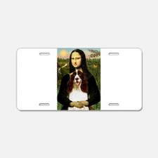 Mona Lisa & Her Springer Aluminum License Plate