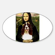Mona Lisa & Her Springer Sticker (Oval)
