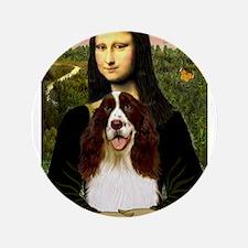 """Mona Lisa & Her Springer 3.5"""" Button"""