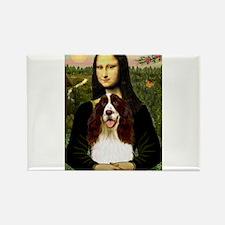Mona Lisa & Her Springer Rectangle Magnet (10 pack