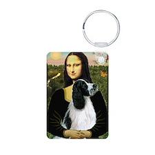 Mona & English Springer (BW) Keychains