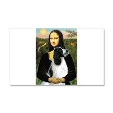 Mona & English Springer (BW) Car Magnet 20 x 1