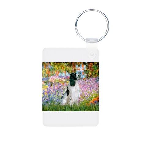 Monet's garden & Springer Aluminum Photo Keychain