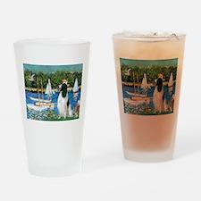 Sailboats & English Springer Drinking Glass