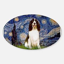 Starry Night & Springer Sticker (Oval)