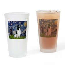Starry Night English Springer Drinking Glass