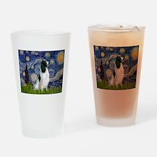 Starry Night English Springer Drinking Glass