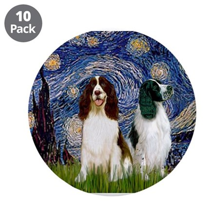 """Starry Night & Springer 3.5"""" Button (10 pack)"""