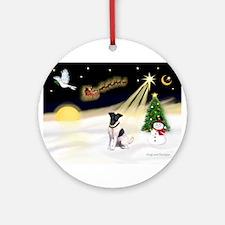Night Flight/Fox Ter #1 Ornament (Round)