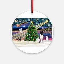 Xmas Magic & Fox T #1 Ornament (Round)