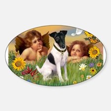 Two Angels & Fox Terrier (#1) Decal