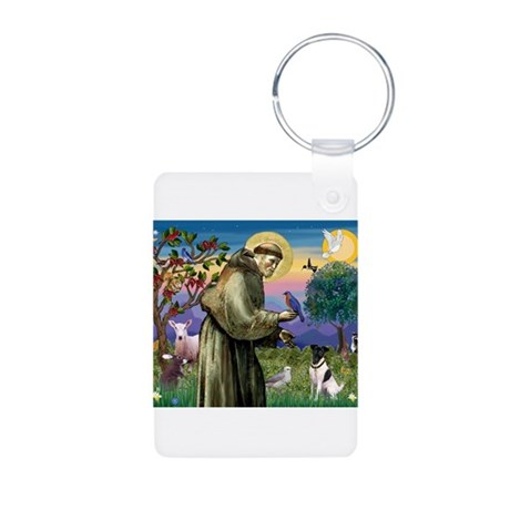 St. Francis and Smooth Fox Terrier Aluminum Photo