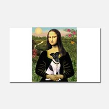Mona and Fox Terrier Car Magnet 20 x 12
