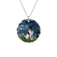 Fox Terrier (#1) & Lilies Necklace