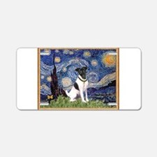 Starry Night Fox Terrier (#1) Aluminum License Pla