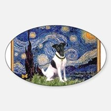 Starry Night Fox Terrier (#1) Decal