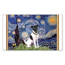 Starry Night Fox Terrier (#1) Decal
