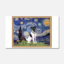 Starry Night Fox Terrier (#1) Car Magnet 20 x 12
