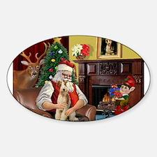 Santa's Wire Fox Terrier Decal