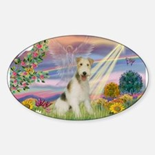 Cloud Angel & Wire Fox Terrier Decal