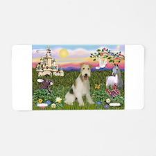 Castle & Wire Fox Terrier Aluminum License Plate