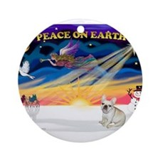 XmasSunrise/Fr Bulldog 1 Ornament (Round)