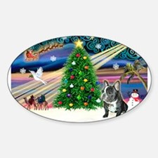 Xmas Magic/French BD (BW) Decal