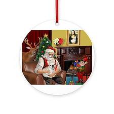 Santa's French BD (1) Ornament (Round)