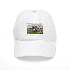 Blossoms & French Bulldog Baseball Baseball Cap