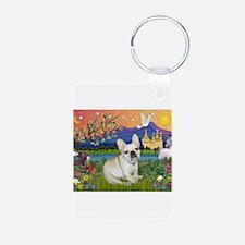 French Bulldog in Fantasyland Keychains