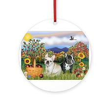 French Bulldog Picnic Ornament (Round)