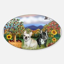 French Bulldog Picnic Sticker (Oval)